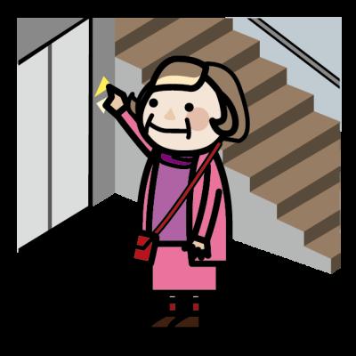 階段とエレベーター
