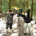 雪の山道での救出劇場!松近土木株式会社さま、ありがとうございました